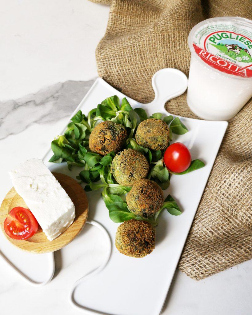Polpette di spinaci e Ricotta Fresca Caseifico Pugliese