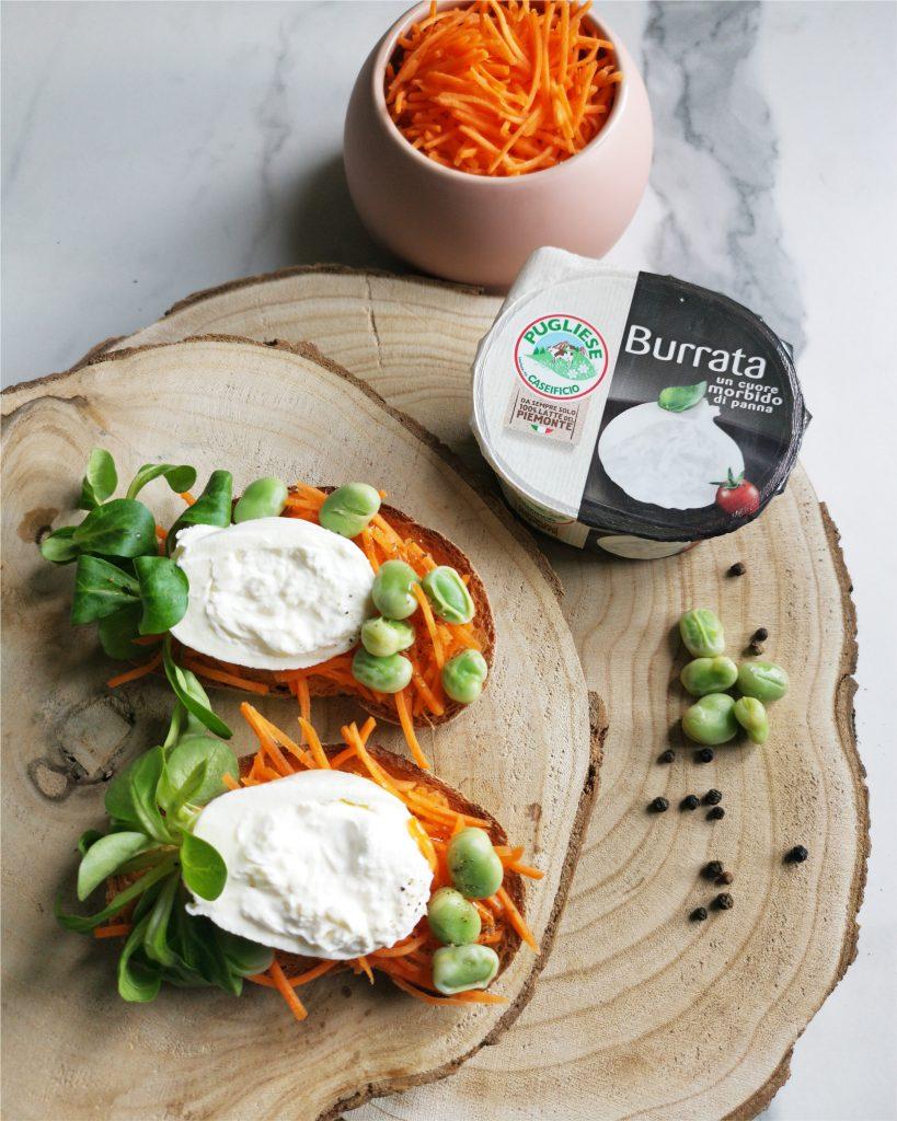 Bruschetta con Burrata Caseificio Pugliese e verdure